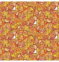 Autumn seashell pattern vector