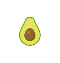 avocado flat style isolated on white background vector image