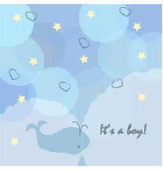 baby boy birth announcement baby shower vector image