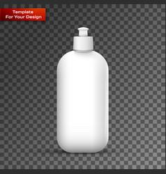 Blank dish washing liquid package vector