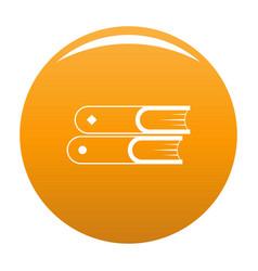 book two icon orange vector image