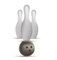 bowling ball game strike pin sport design vector image