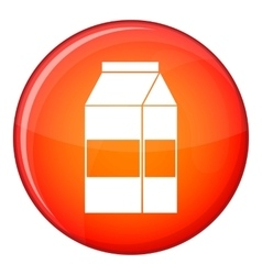 Box of milk icon flat style vector