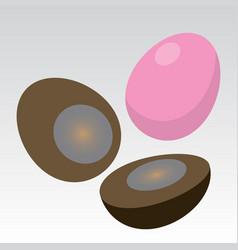 Century egg pidan vector