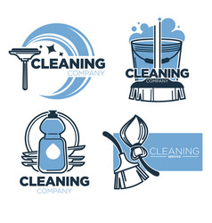 Cleaning tools and clean service isolated icons vector