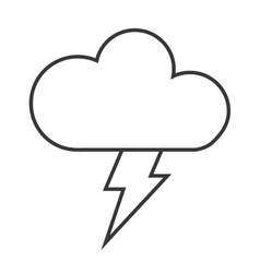 Cloud with ray isolated icon design vector
