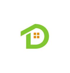 d home logo vector image