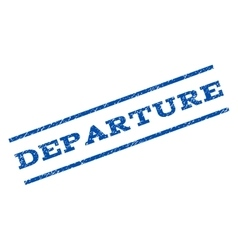Departure Watermark Stamp vector