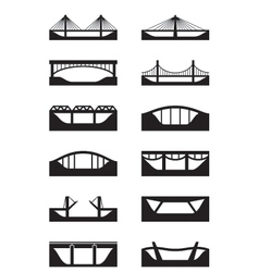 Different types of bridges vector