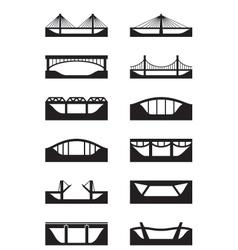 Different types of bridges vector image