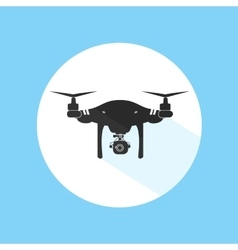 Drone Logo Design Icon Silhouette Technology vector image