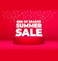 end season summer sale poster or flyer design vector image