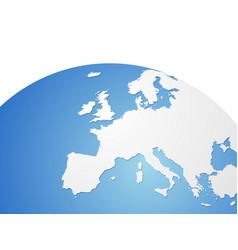 europe map on world globe vector image