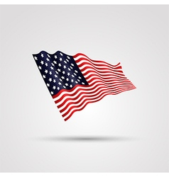 flag us isolated on white vector image