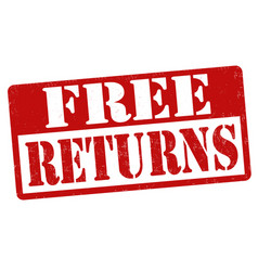Free returns sign or stamp vector