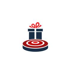 gift target logo icon design vector image