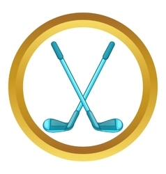 Golf clubs icon vector
