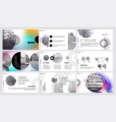 graphic design project proposal presentation vector image