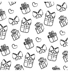 grunge close presents gifts boxes background vector image