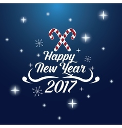 Happy new year 2017 greeting card lighting candy vector