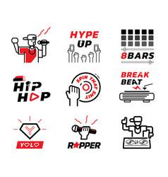 Hip hop music element vector