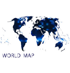 International map of the world abstraction vector
