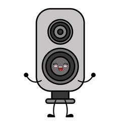 kawaii speaker icon vector image