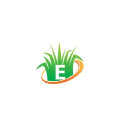 Lawn care center initial e vector