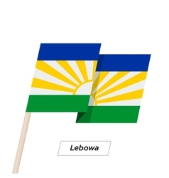 Lebowa Ribbon Waving Flag Isolated on White vector image
