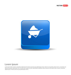 loader icon - 3d blue button vector image