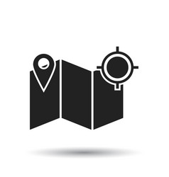 location gps icon flat location sign symbol with vector image