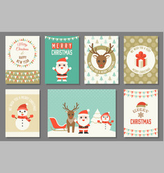merry christmas typography and elements vector image
