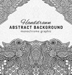 monochrome hand drawn background vector image