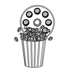 movie film clipart with pop corn icon vector image
