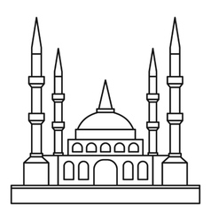 Muslim mosque icon outline style vector