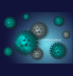 new coronavirus genome covid-19 background vector image