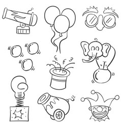 Object element circus of doodles vector