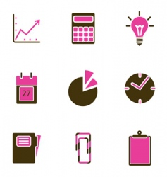 Office object icon vector