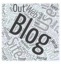 Ouf Of Control Blog Advertising Word Cloud Concept vector