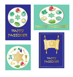 Passover seder clipart vector