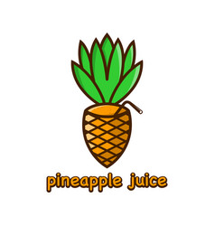 pineapple juice logo design template vector image