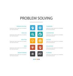 Problem solving infographic 10 option concept vector
