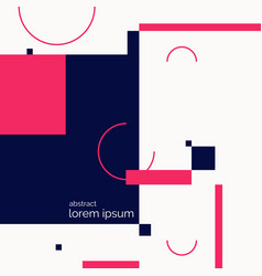 retro abstract geometric background the poster vector image