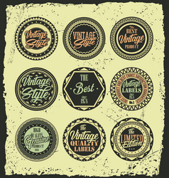 retro vintage label badges with grunge background vector image