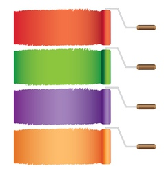 Rollers with colors vector