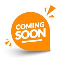 round orange coming soon label modern web banner vector image