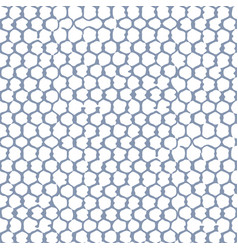 Seamless pattern gray hand drawn net over the vector