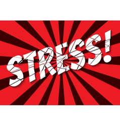 stress vector image