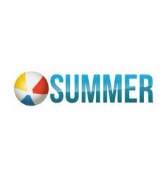 summer concept word art vector image