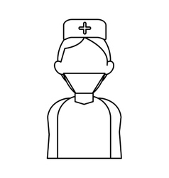 Surgeon doctor wearing clothes medical uniform vector